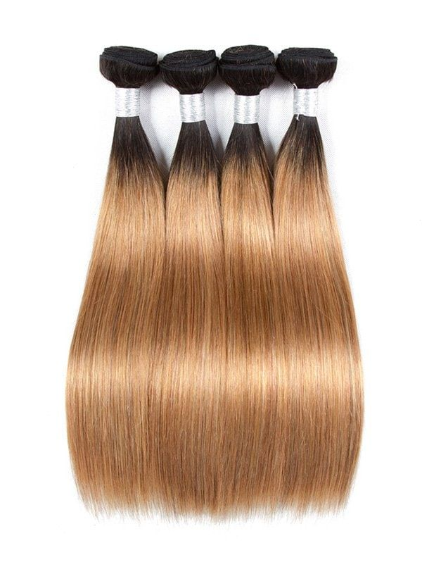 Ombre Long Straight Human Hair Weft