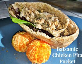 The Journey to a New Dee: Healthy Balsamic Chicken Pita Pocket Recipe!