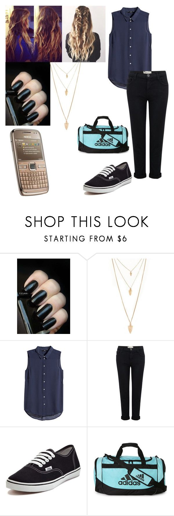 """""""Criminal Minds *Spencer Reid*"""" by ceejxx ❤ liked on Polyvore featuring Forever 21, Nokia, H&M, Current/Elliott, Vans and adidas"""