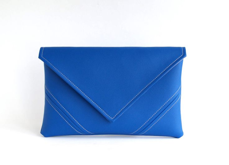 Royal Blue Clutch Bag Cobalt Vegan Bag Vegan Leather Clutch Purse Bridesmaid Clutch Vegan Purse Gift For Her Evening Bag Leather Purse by LudaMelnick on Etsy https://www.etsy.com/ca/listing/519113987/royal-blue-clutch-bag-cobalt-vegan-bag