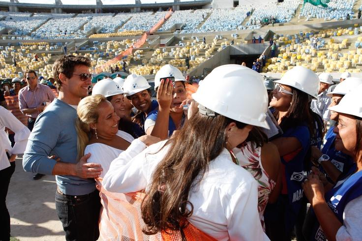 Tom Cruise allo stadio MARACANA