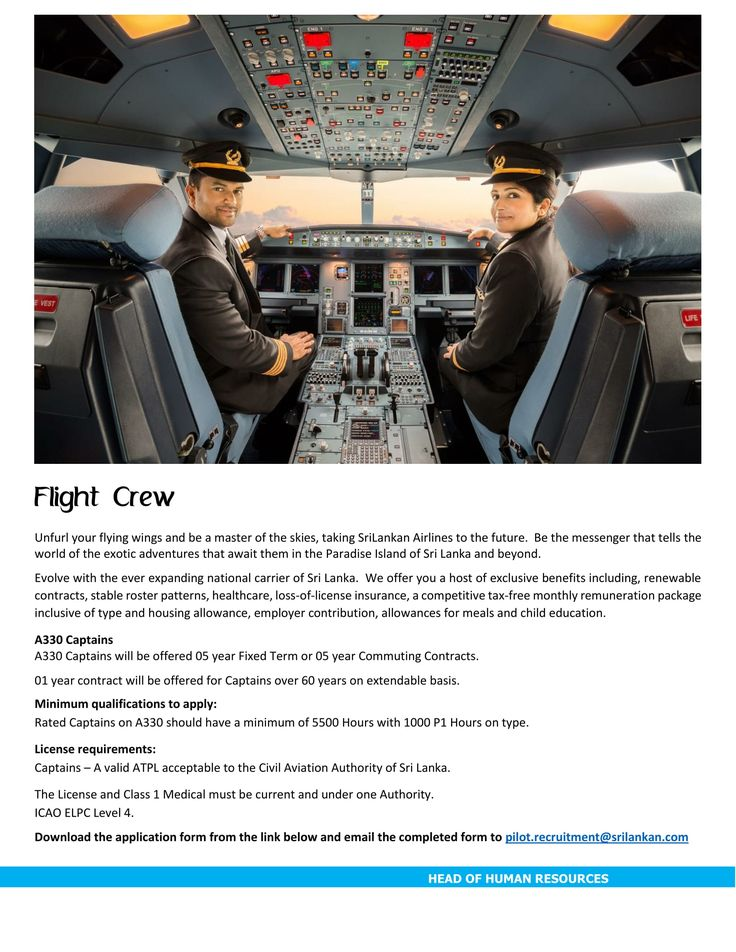 Captain at SriLankan Airlines | CareerFirst