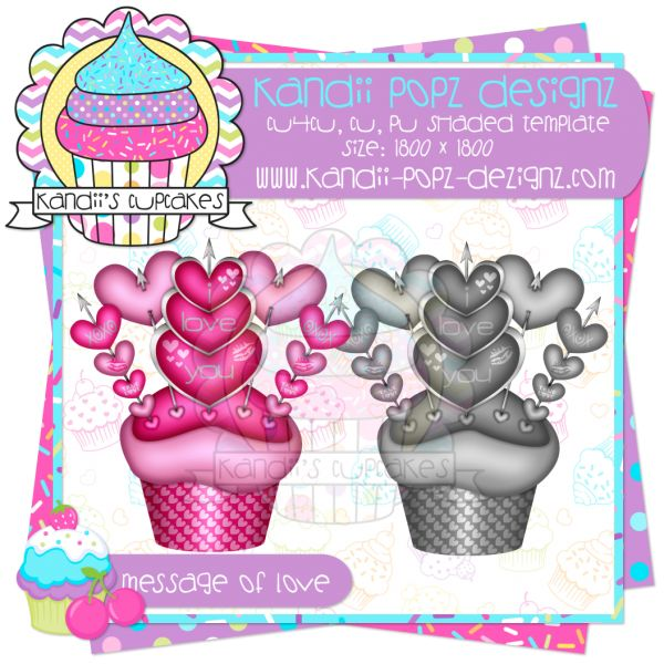 Messages Of Love Cupcake Template