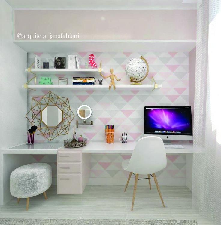 Escrivaninha, Quarto de menina, tumblr, quarto tumblr, espaço de maquiagem, quarto, girl bedroom, tumblr bedroom
