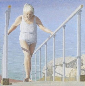 Woman on Ramp by Alex Colville
