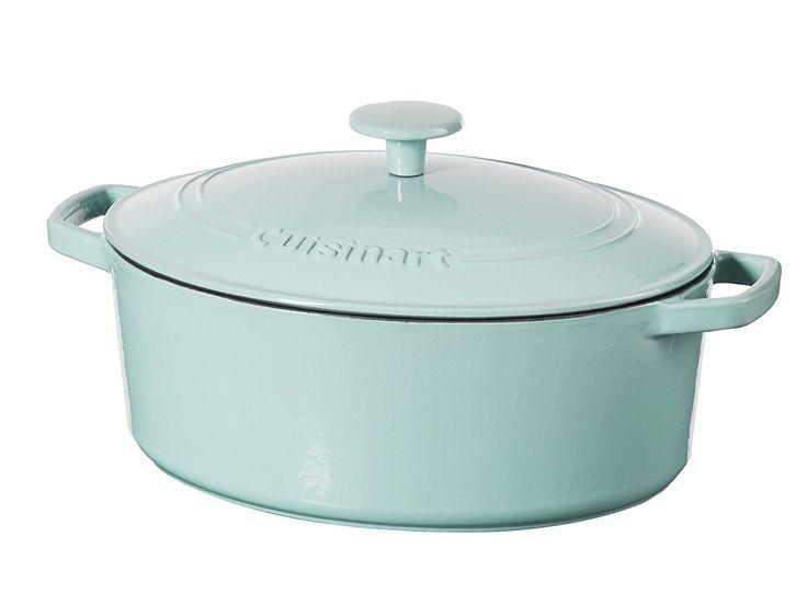 Amazon.com: Cuisinart 5.5 Qt. Casserole Cast Iron, Light Blue: Kitchen & Dining