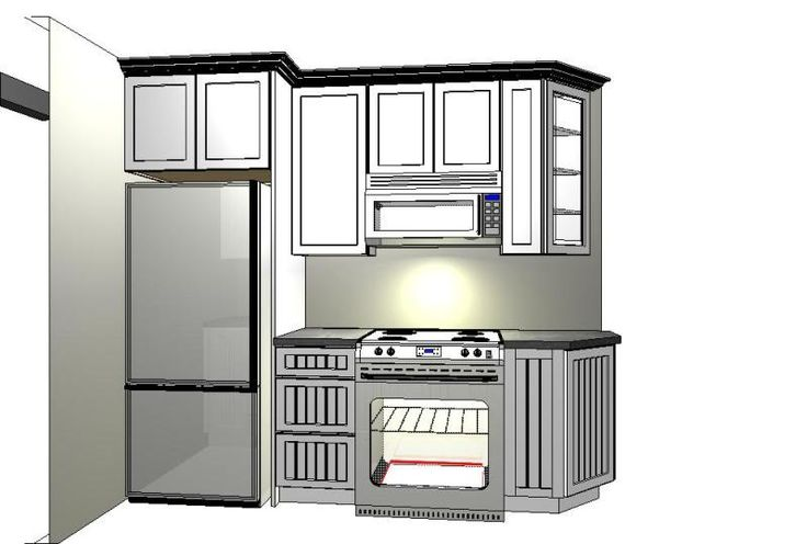 Kitchen Remodeling Design Ideas Inspiration: Layout And Placement Of Refrigerator In Small Kitc