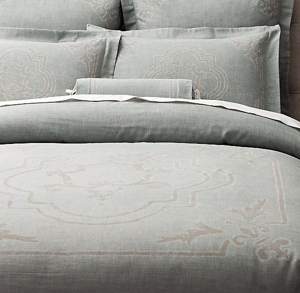Baroque colors and duvet covers on pinterest for Duvet covers restoration hardware