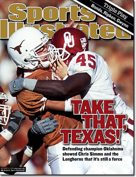 Oklahoma Sooners vs. Texas: October 15, 2001 Sports Illustrated Cover