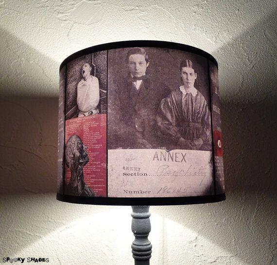 Paralume per lampada asilo rosso  illuminazione di SpookyShades