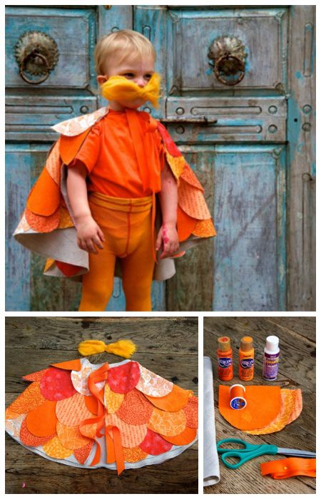 28 best dr seuss stuff images on pinterest costume ideas dr the lorax diy easy halloween costume for kids by handmade charlotte solutioingenieria Gallery