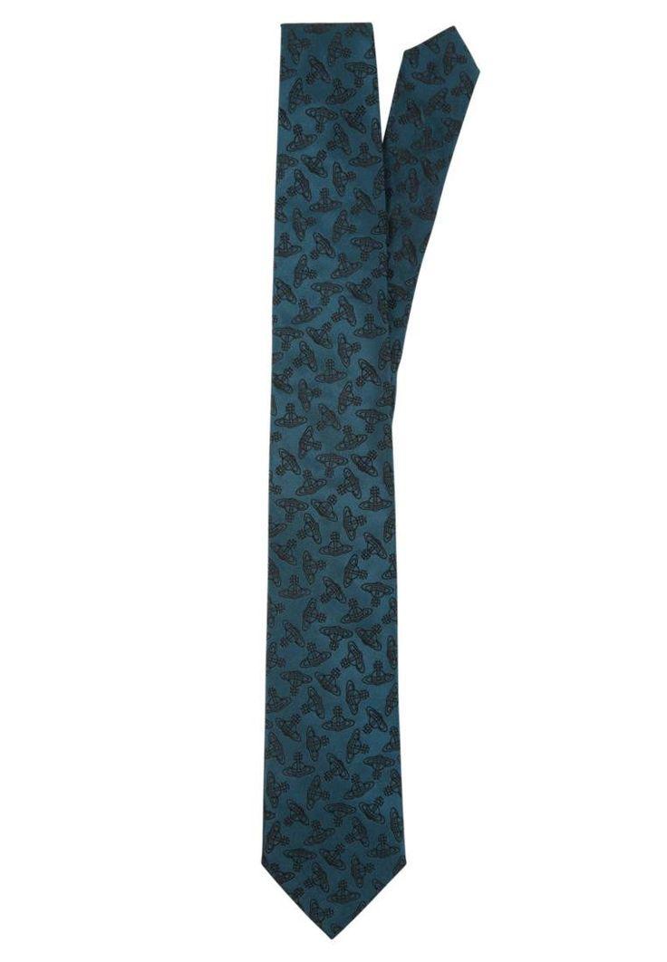 Vivienne Westwood. Krawatte - petrol. Breite:8.5 cm bei Größe One Size. Material Oberstoff:100% Seide. Pflegehinweise:chemische Reinigung. Länge:145 cm bei Größe One Size