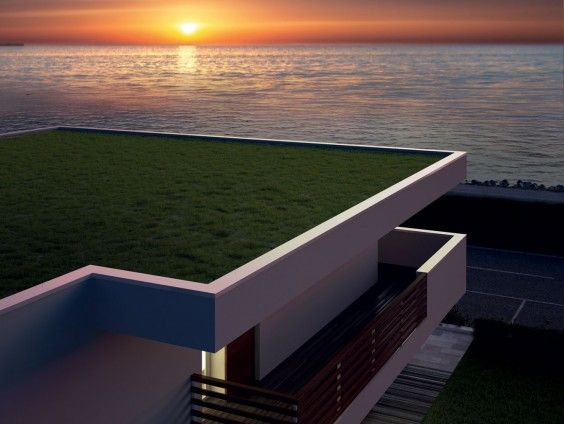 #Soleis Residential Complex - Stunning #sunset  #view from Semidetached #House C - Two adjacent dwellings designed to break the classic Italian two-family house concept. Each #apartment is on two floors and has a spacious garden, a cellar and a double underground #garage with direct access to the property, with additional porches and patios on all sides. #luxury #realestate #forsale #italy #lignano