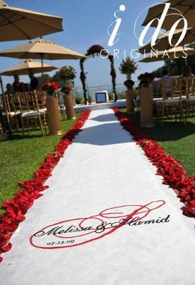 17 Best Images About Red Rose Petal Wedding Aisles On Pinterest Runners Re