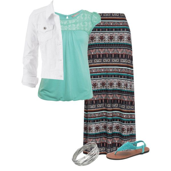 Not a pattern I would normally choose in the skirt, but I like it anyway.  Cute blouse. I like the jacket but would prefer it to be longer (I don't like cropped jackets).