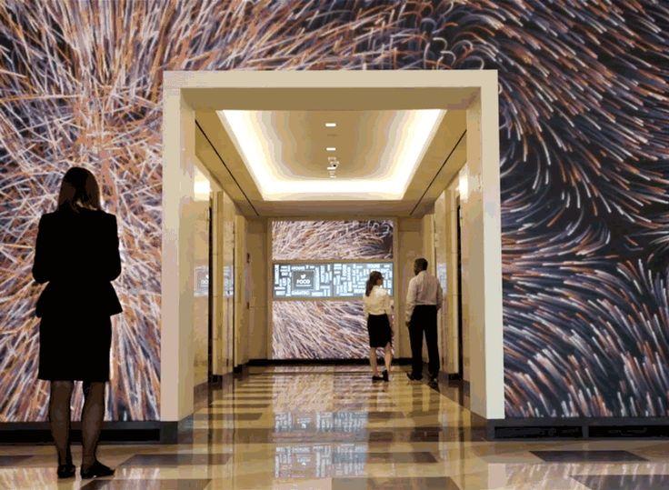 Digital Dynamo: Massive Motion-Activated Media Wall Animates Office
