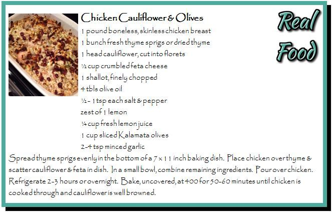 Chicken Cauliflower & Olives