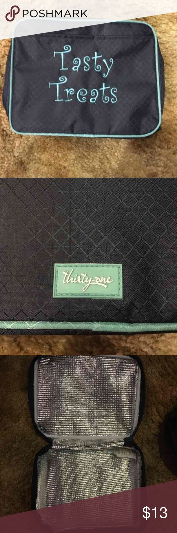 Thirty one lunch bag Blue and teal lunch bag by thirty one  Never used thirty one Bags Travel Bags