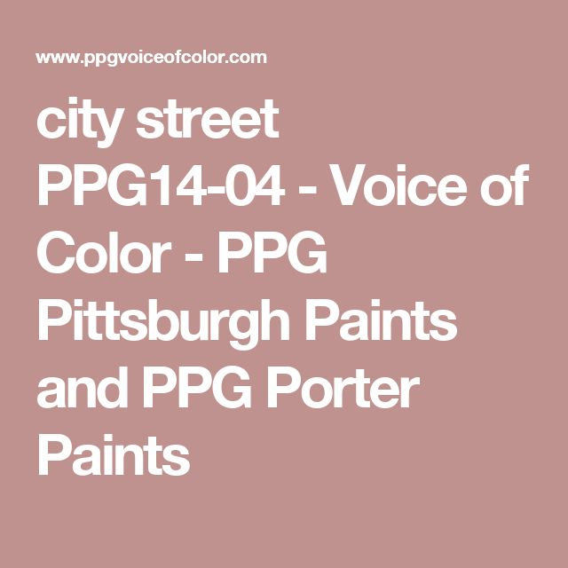 city street PPG14-04 - Voice of Color - PPG Pittsburgh Paints and PPG Porter Paints