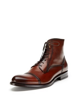 Leather Lace-Up Boots by Antonio Maurizi at Gilt