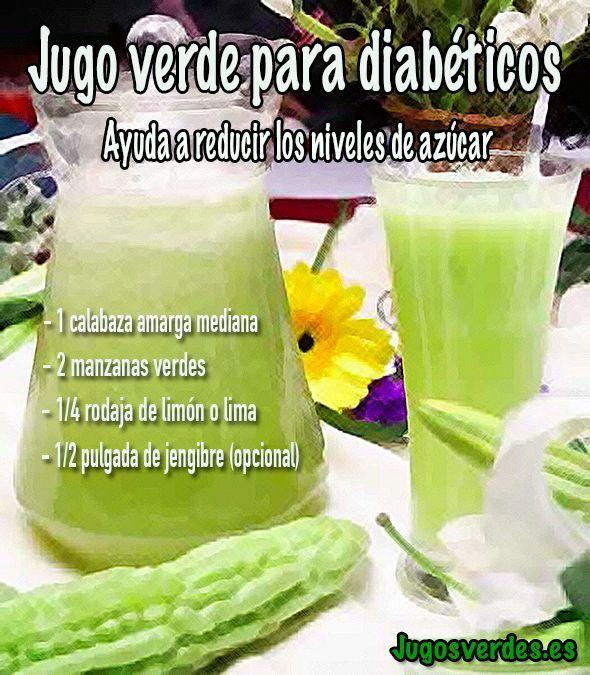 Jugo verde para bajar los niveles de azúcar en sangre. #jugo #azúcar #diabetes
