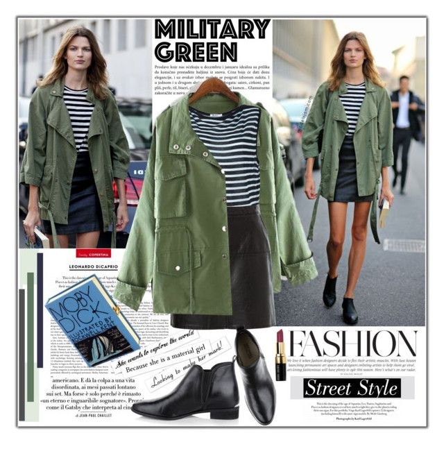 """""""When in doubt, throw on an army-green parka."""" by vaniasb152 ❤ liked on Polyvore featuring Vanity Fair, T By Alexander Wang, Karl Lagerfeld, Michael Kors, Olympia Le-Tan and Bobbi Brown Cosmetics"""
