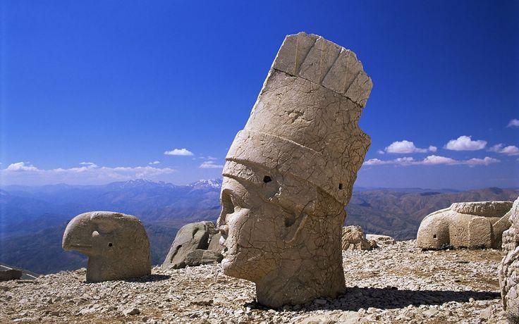 Colossal Head of Antiochus I, Mount Nemrut, Adiyaman,Turkey