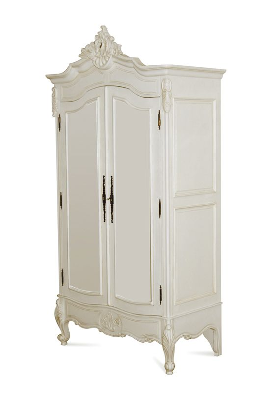 Louis Xv   2 Door   Solid Door Armoire   : Island Furniture Co