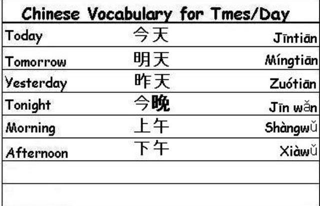 Chinese Vocabulary: Seasons & Times 4
