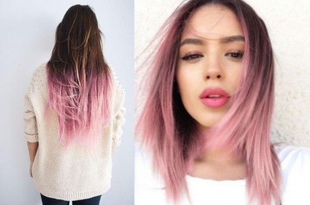 Cabello degradado en color rosa