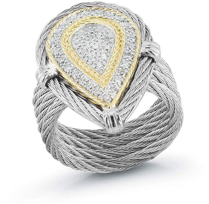 Alor 18k Stacked Teardrop Diamond Ring, Size 7 #affiliatelink