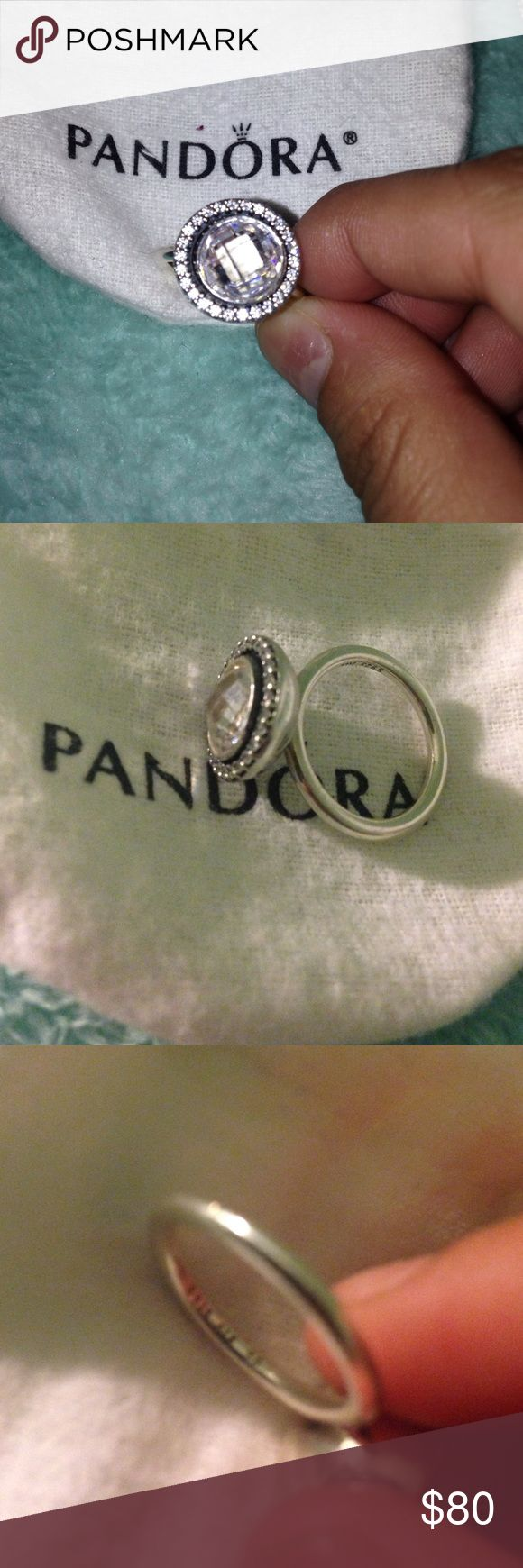 Brilliant Legacy PANDORA ring size 50/5 Brilliant legacy size 5 ring, sterling silver with Clear CZ 100% authentic Pandora. FEEL FREE TO MAKE OFFERS but I will not undersell. Comes W/BOX worn once Pandora Jewelry Rings
