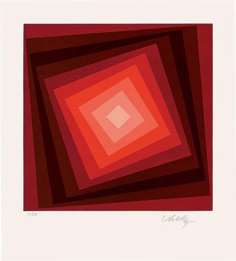 """Victor Vasarely: """"Voeroech"""" (1986) http://www.kunsthaus-artes.de/de/750115.00/Bild-Voeroech-1986/750115.00.html#cgid=t_geometrie&start=15"""