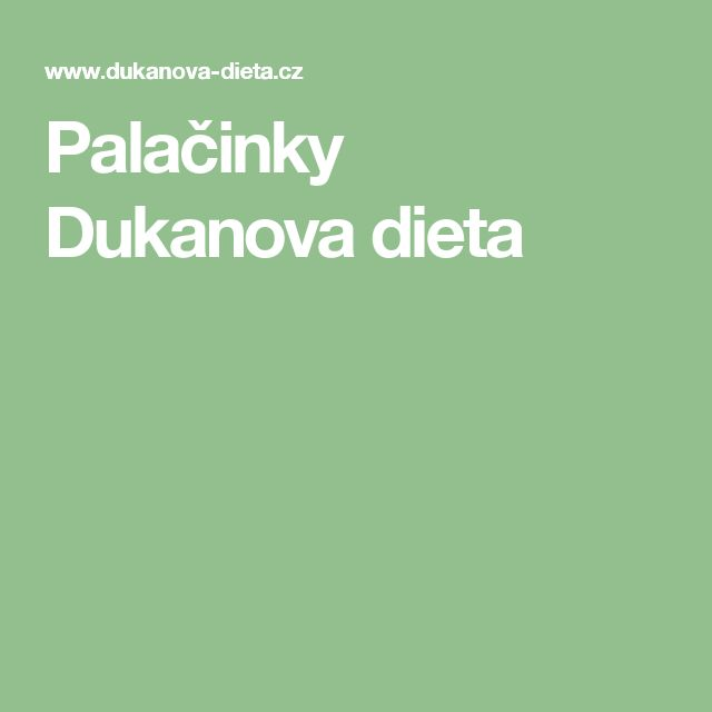 Palačinky Dukanova dieta