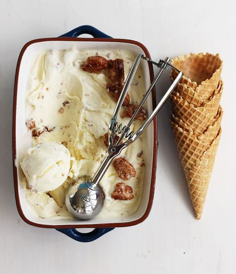 Pecan Praline Ice Cream & Salty Honey Sauce