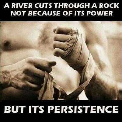Persistence--so hard when your body feels like lightning bolts of pain are shooting through your body. Those are the days I do  http://papasteves.com