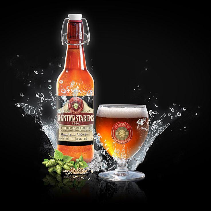 Räntmästarens Röda - Lager  Maximal fyllighet. Med inspiration i en irländsk röd ale men bryggd som en lager. Fruktigt och omfam- nande smakar detta öl bättre och bättre för varje gång.  ABV: 5,5% IBU: 35 MALT: Pilsner, Munich och Karamell HUMLE: Goldings, Citra och Cascade