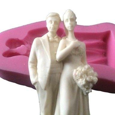 siliconen cake topper schimmel silicone chocoladevorm voor bruiloft taart decoreren arts