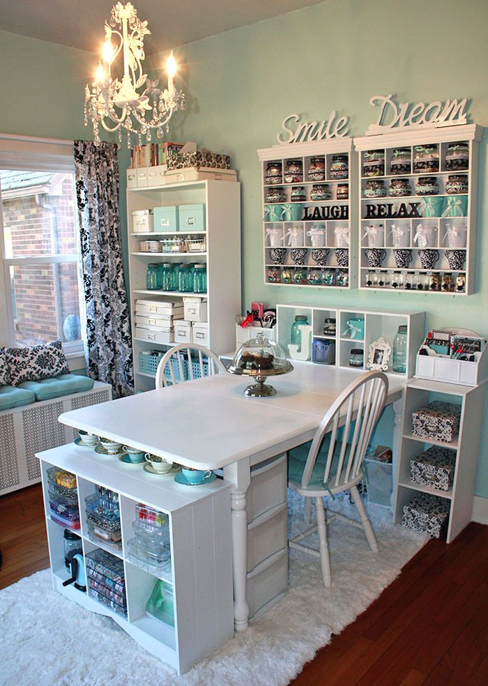 Diy Craft Room Ideas Projects The Budget Decorator Craft Table
