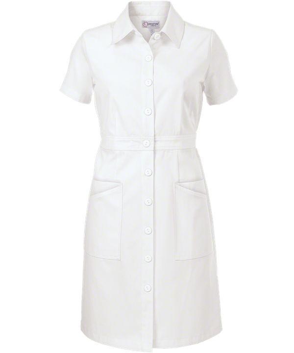 Peaches Button Front 1256 Dress, nursing scrub dresses