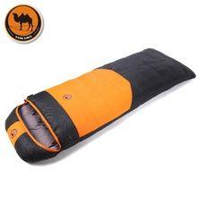 Camcel ultralight camping envelope saco de dormir pato branco para baixo saco de dormir saco de dormir saco de compressão 1500/1700/1900g(China (Mainland))