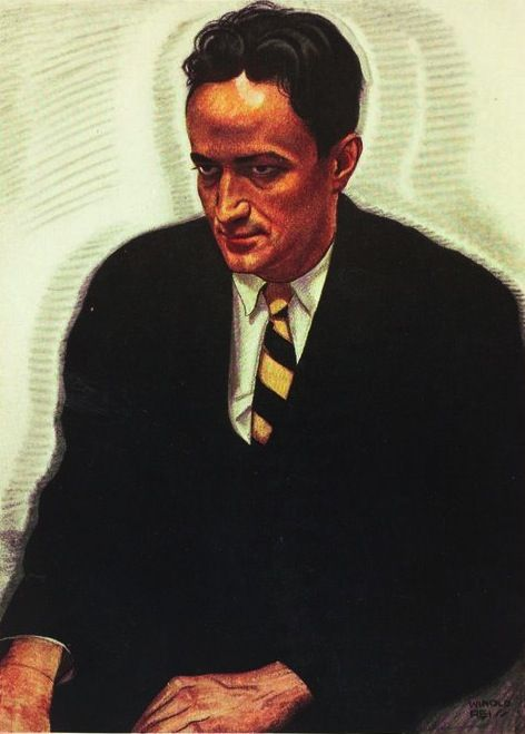 Portrait of Jean Toomer, by Winold Reiss. Winold Reiss was a German immigrant who came to fame for his illustrations and cover designs during the Harlem Renaissance. He taught and mentored artist Aaron Douglas, and his work appeared on Harlem Renaissance-era book and magazine covers. His illustrations for the book The New Negro, edited by Alain Locke in 1925, were very influential. More information on Winold Reiss here: http://www.winoldreiss.org/index.htm