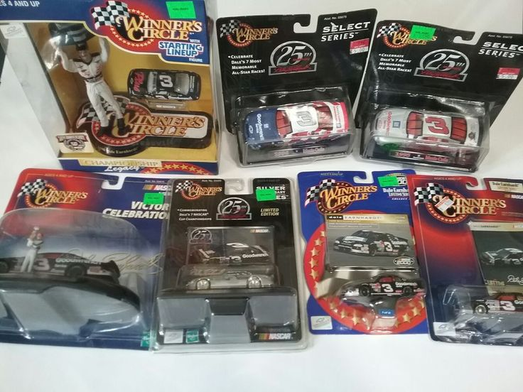 Dale Earnhardt Lot of 7 Figures and Cars Winners Circle Nascar Collectibles #3 #WinnersCircle #Chevrolet