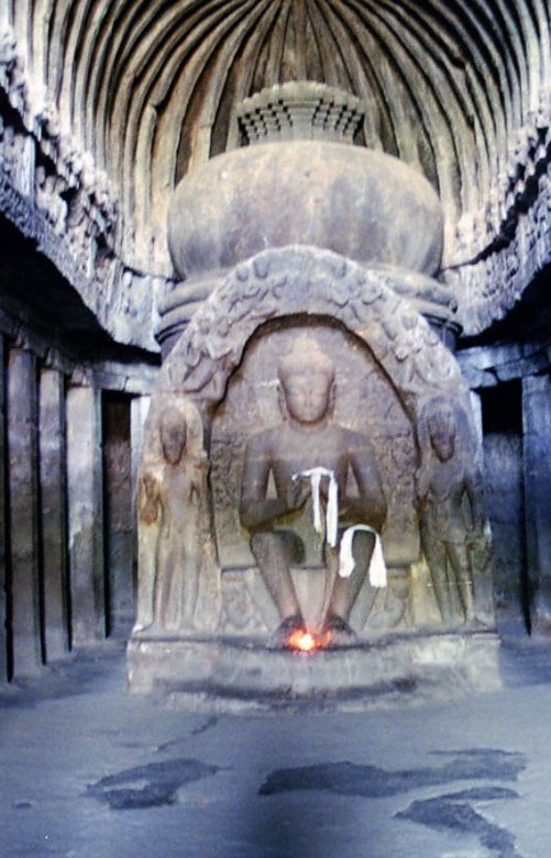 ELLORA CAVES, India: were built by the Rashtrakuta dynasty which ruled large parts of India for about 250 years. Ellora represents the epitome of Indian rock-cut architecture, 34 structures excavated out of the vertical face of the Charanandri hills. The 12 Buddhist caves (built 630-700), 17 Hindu caves (built 550-800), & 5 Jain caves (built 800-1000) in proximity demonstrate the religious harmony prevalent during this period.