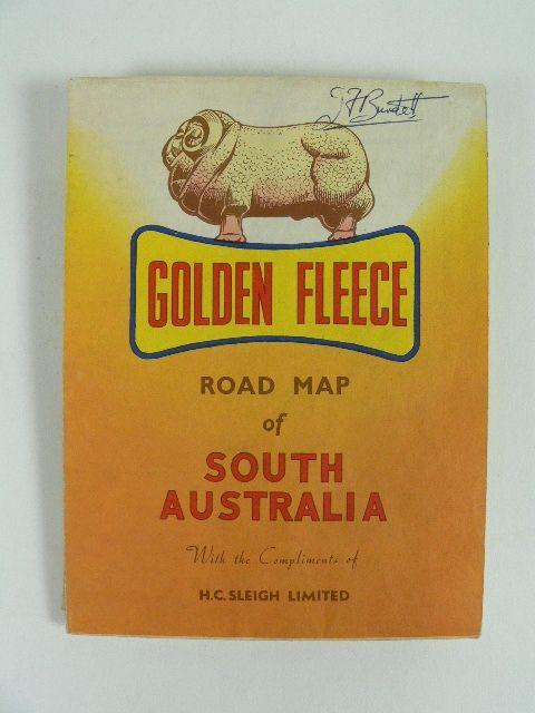 Golden Fleece road map of South Australia