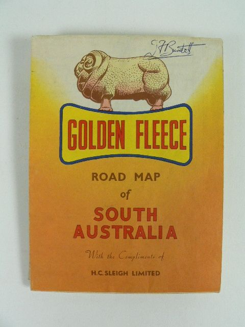 Golden Fleece road map of South Australia
