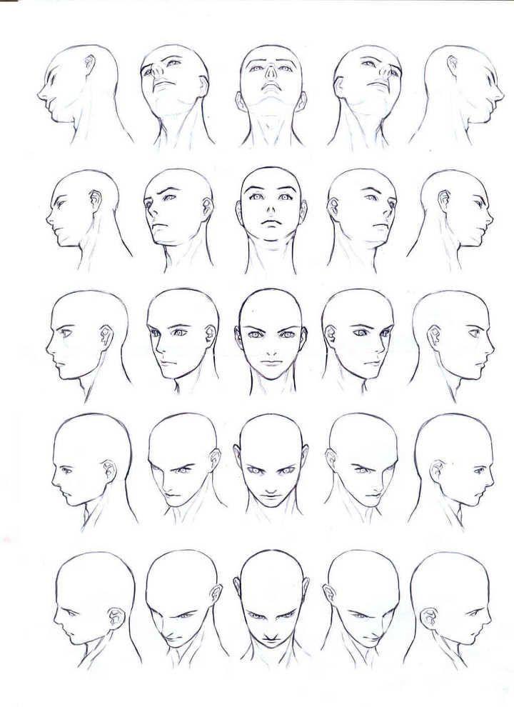 Die Gesichter von Männern und Frauen und menschliche Körper aus verschiedenen Blickwinkeln betrachten …
