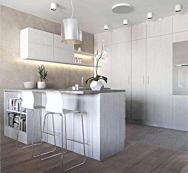 jasna kuchnia biel beż  bright kitchen white beige