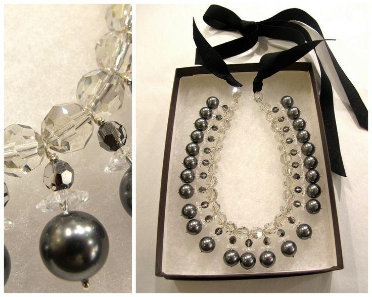 Zuzanna G - silver, swarovski crystal and pearls. Infinity Lagunen