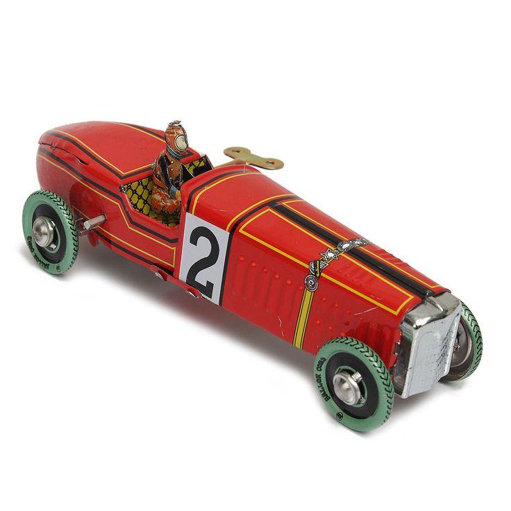 Commercio all'ingrosso di Ferro metallo artigianato Vintage red Wind Up Racing vecchio classico modello di Auto Da Corsa Clockwork tin Veicolo giocattolo Da Collezione Regalo